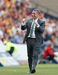 19.05.2018 Scottish Cup Final Celtic v Motherwell: Brendan Rodgers celebrates Celtic's opener