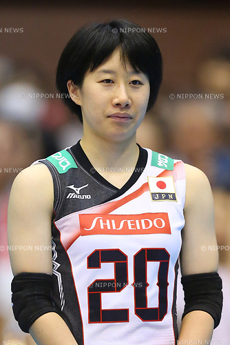 Mako Kobata (JPN), <br /> JULY 16, 2017 - Volleyball : FIVB Volleyball World Grand Prix SENDAI 2017 match between <br /> Brazil 2-3 Japan  <br /> at Kamei Arena Sendai, in Sendai, Japan. <br /> (Photo by Sho Tamura/AFLO)