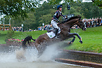 Stamford, Lincolnshire, United Kingdom, 7th September 2019, Ariel Grald (USA) & Leamore Master Plan during the Cross Country Phase on Day 3 of the 2019 Land Rover Burghley Horse Trials, Credit: Jonathan Clarke/JPC Images