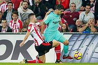 Athletic de Bilbao's Unai Nunez (l) and FC Barcelona's Luis Suarez during La Liga match. October 28,2017. (ALTERPHOTOS/Acero) /NortePhoto.com