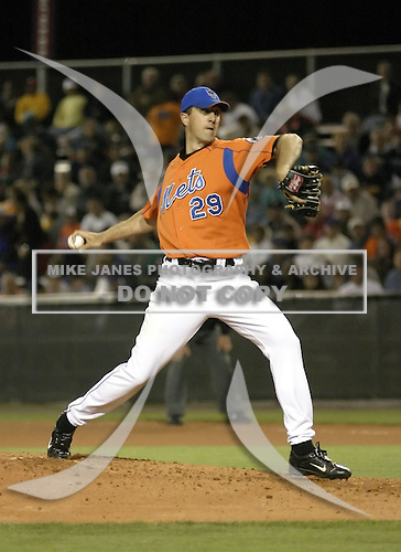April 2, 2004:  Pitcher Steve Trachsel of the New York Mets organization during Spring Training at Tradition Field in St. Lucie, FL.  Photo by:  Mike Janes/Four Seam Images