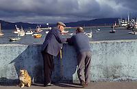 am Hafen von Camarinas ( Camarinas), Galicien, Spanien