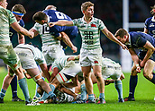 7th December 2017, Twickenham Stadium, London, England; The Varsity Match, Cambridge versus Oxford;  Cambridge's man-of-the-match Chris Bell directs his forwards at the breakdown