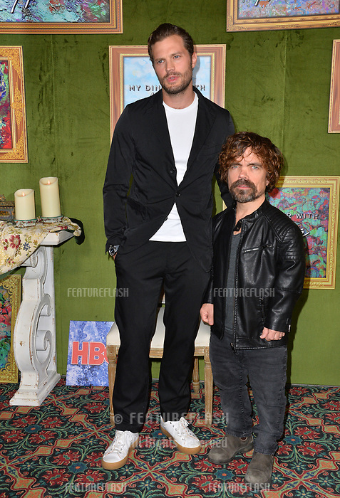 LOS ANGELES, CA. October 04, 2018: Jamie Dornan &amp; Peter Dinklage at the Los Angeles premiere for &quot;My Dinner With Herve&quot; at Paramount Studios.<br /> Picture: Paul Smith/Featureflash