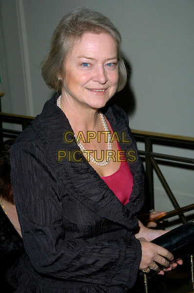 KATE ADIE.The Costa Book Of The Year Award 2006, Grosvenor House Hotel, Park Lane, London, UK..February 7th, 2007.half length black jacket pearl necklace .CAP/CAN.©Can Nguyen/Capital Pictures