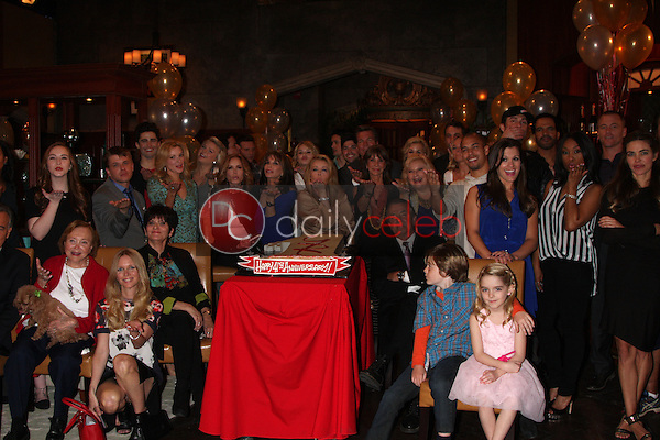 Young and Restless Cast<br /> at the Young and Restless 41st Anniversary Cake, CBS Television City, Los Angeles, CA 03-25-14<br /> David Edwards/DailyCeleb.com 818-249-4998