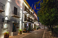 Night time image council offices, Orange Square, Marbella, Malaga Province, Spain, February, 2019, 201902060351<br /><br />Copyright Image from Victor Patterson, <br />54 Dorchester Park<br />Belfast, UK, BT9 6RJ<br /><br /><br />t: +44 28 9066 1296 (from Rep of Ireland 048 9066 1296)<br />m: +44 7802 353836<br /><br />e1: victorpattersonbelfast@gmail.com<br /><br />www.victorpatterson.com<br /><br />Please see my Terms and Conditions of Use at www.victorpatterson.com.  It is IMPORTANT that you familiarise yourself with them.<br /><br />Images used on the Internet must be visibly watermarked i.e. © Victor Patterson within the body of the image. Image metadata must not be deleted. Images used on the Internet have a size restriction of 4kbs. Images used on the internet incur an additional charge.<br /><br />This image is only available for the use of the download recipient i.e. television station, newspaper, magazine, book publisher, etc, and must not be passed on to any third party. It is also downloaded on condition that each and every usage is notified within 7 days to victorpatterson@me.com. The right of Victor Patterson to be identified as the author is asserted in accordance with The Copyright Designs And Patents Act (1988). All moral rights are asserted