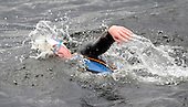 Seven members of the Royal Navy First Mine Countermeasures Squadron - from HM Naval Base Clyde - took part in a 22 mile swim of Loch Lomond in support of the Canine Partners Charity. Swimmers completed relay sections between Ardlui and Balloch - pics show Lt Cmdr Simon Kelly swimming during one of his sections - Picture by Donald MacLeod - 01.09.11 - 07702 319 738 - www.donald-macleod.com