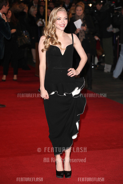 Amanda Seyfried arriving for the premiere of 'Les Miserables' at Leicester Square, London. 05/12/2012 Picture by: Alexandra Glen / Featureflash