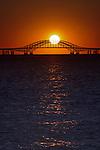 Catching the Sun at Robert Moses Bridge - Vertical