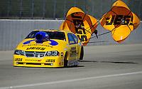 Feb. 10, 2012; Pomona, CA, USA; NHRA pro stock driver Jeg Coughlin Jr during qualifying at the Winternationals at Auto Club Raceway at Pomona. Mandatory Credit: Mark J. Rebilas-