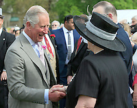 19 May 2016 - London, England - Prince Charles Prince of Wales meets guests during a garden party at Buckingham Palace in London. Photo Credit: ALPR/AdMedia