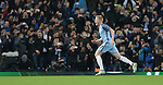 Kevin De Bruyne of Manchester City celebrates his goal during the Champions League Group C match at the Etihad Stadium, Manchester. Picture date: November 1st, 2016. Pic Simon Bellis/Sportimage