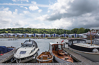 Henley on Thames. United Kingdom.  General View, from the Oxfordshire bank.    Thursday,  30/06/2016,      2016 Henley Royal Regatta, Henley Reach.   [Mandatory Credit Peter Spurrier/ Intersport Images] Messing about on the River.