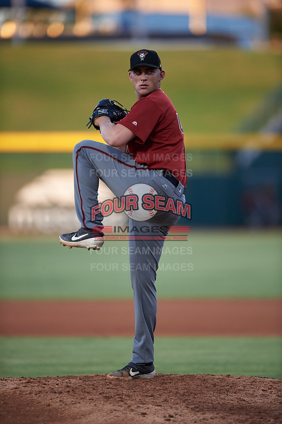 AZL Dbacks relief pitcher Austin Pope (40) during an Arizona League game against the AZL Cubs 2 on June 25, 2019 at Sloan Park in Mesa, Arizona. AZL Cubs 2 defeated the AZL Dbacks 4-0. (Zachary Lucy/Four Seam Images)