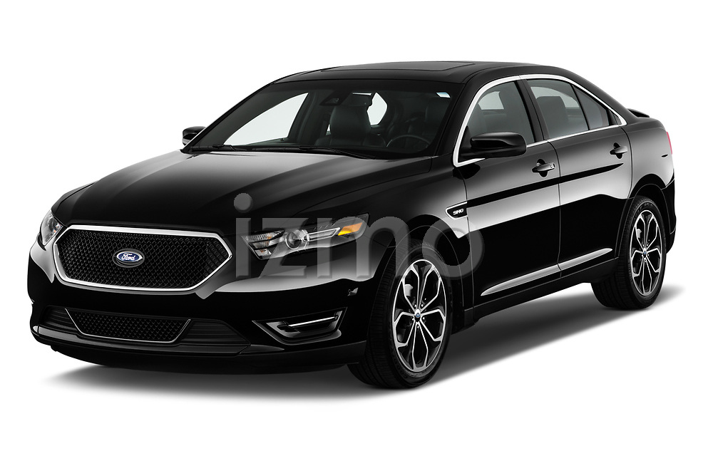 2017 Ford Taurus SHO 4 Door Sedan Angular Front stock photos of front three quarter view