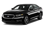 2018 Ford Taurus SHO 4 Door Sedan Angular Front stock photos of front three quarter view
