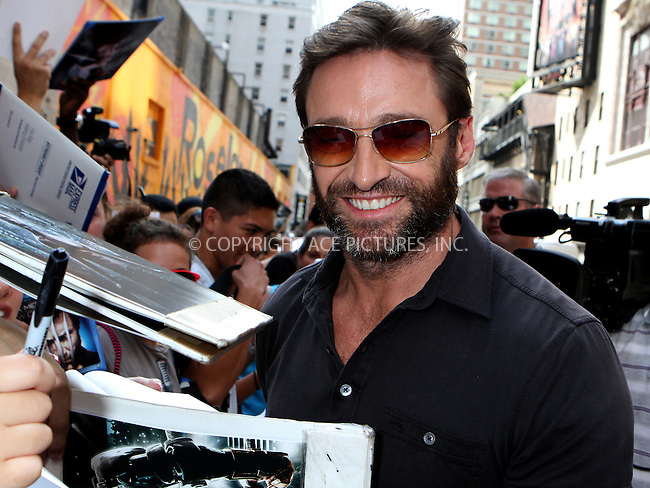 WWW.ACEPIXS.COM<br /> <br /> July 23 2013, New York City<br /> <br /> Actor Hugh Jackman made an appearance at 'The Late Show with David Letterman' on July 23 2013 in New York City<br /> <br /> By Line: Nancy Rivera/ACE Pictures<br /> <br /> <br /> ACE Pictures, Inc.<br /> tel: 646 769 0430<br /> Email: info@acepixs.com<br /> www.acepixs.com