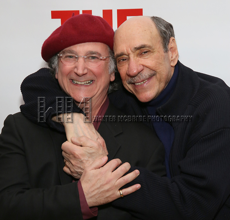 """Mark Linn-Baker and F. Murray Abraham attends The New Group presents the New York Premiere Opening Night of David Rabe's for """"Good for Otto"""" on March 8, 2018 at the Green Fig Urban Eatery,  in New York City."""