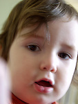 tight shot of toddler's face [limited file size available]