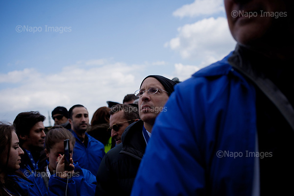 OSWIECIM, POLAND, APRIL 24, 2017:<br /> Elisha Wiesel is reflecting at the camp in the &quot;March of The Living&quot; an annual march between two camps of the Auschwitz concentration camp.  Elisha Wiesel is a chief technology officer at Goldman Sachs in New York and the only son of Holocaust memoirist Eli Wiesel. After death of his father he has decided to step forward and take a more public role, carrying on his father's work.<br /> (Photo by Piotr Malecki / Napo Images)<br /> ###<br /> OSWIECIM, 24/04/2017:<br /> Elisha Wiesel, syn slawnego Eli Wiesela, bierze udzial w Marszu Zywych w Oswiecimiu. Po smierci ojca Elisha postanowil kontynuoawc jego dzielo.<br /> Fot: Piotr Malecki / Napo Images<br /> <br /> ###ZDJECIE MOZE BYC UZYTE W KONTEKSCIE NIEOBRAZAJACYM OSOB PRZEDSTAWIONYCH NA FOTOGRAFII###