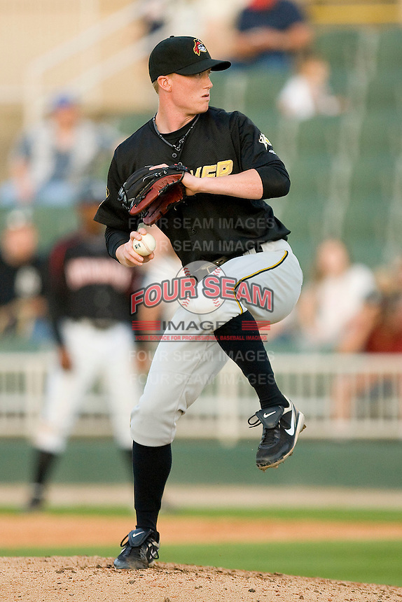 Relief pitcher Jason Erickson #30 of the West Virginia Power in action against the Kannapolis Intimidators at Fieldcrest Cannon Stadium April 25, 2010, in Kannapolis, North Carolina.  Photo by Brian Westerholt / Four Seam Images