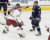 Destry Straight (BC - 17), Shawn Pauly (UConn - 9) - The Boston College Eagles defeated the visiting University of Connecticut Huskies 3-2 on Saturday, January 24, 2015, at Kelley Rink in Conte Forum in Chestnut Hill, Massachusetts.