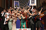 Members of Trim Musical Society, celebrate their awards for their production of Guys &amp; Dolls at the Association of Irish Musical Societies (AIMS) annual awards in the INEC, Killarney at the weekend. <br />  Photo Don MacMonagle<br /> <br /> repro free photo AIMS<br /> Further info: Kate Furlong PRO kate.furlong84@gmail.com