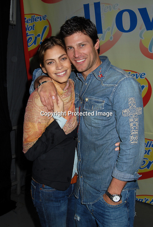 "Greg Vaughan,  who will be the new I Can't Believe It's Not Butter Spokesman with new wife Touriya Vaughan..at The ""Love Games"" Competition to see who is the ..Next Spokesperson for ""I Can't Believe It's Not Butter"" ..on June 7, 2006 at Madison Square Park. ..Robin Platzer, Twin Images"