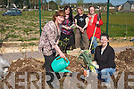 A LOT OF ALLOTMENTS: Residents in Shanakill/Rathoonane in Tralee setting friut and veg with their new allotments. Pictured were: Eileen Austin with her grandson Jason Maher, Caroline Toal (Tralee Town Council), Rachel Budd and Marion Moore.
