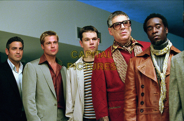 George Clooney, Brad Pitt, Matt Damon, Carl Reiner, Don Cheadle<br /> in Ocean's Eleven (2001) <br /> *Filmstill - Editorial Use Only*<br /> CAP/NFS<br /> Image supplied by Capital Pictures