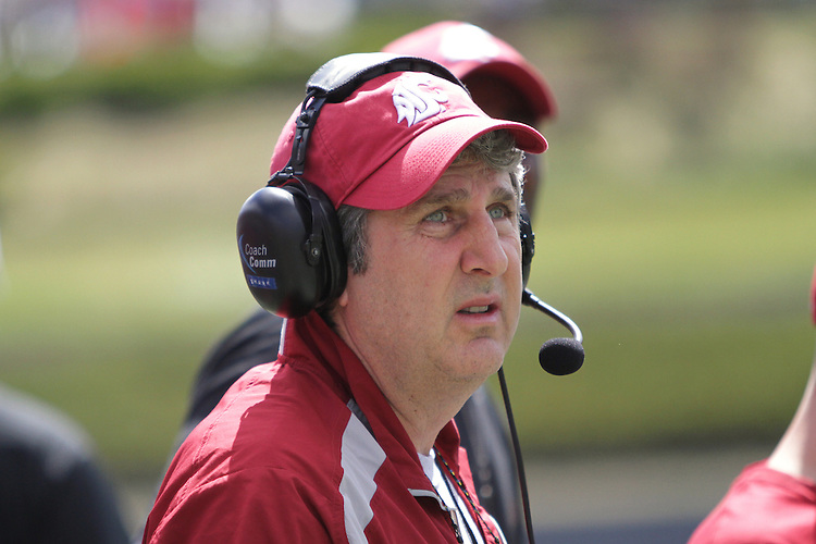 2012 Spring football practice at Washington State University, under new head football coach Mike Leach, culminates with the annual Crimson and Gray game, at Joe Albi stadium in Spokane, Washington, on Saturday, April 21, 2012.