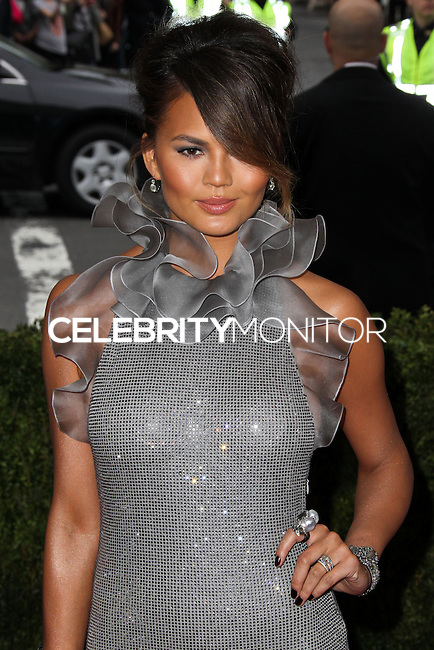 "NEW YORK CITY, NY, USA - MAY 05: Chrissy Teigen at the ""Charles James: Beyond Fashion"" Costume Institute Gala held at the Metropolitan Museum of Art on May 5, 2014 in New York City, New York, United States. (Photo by Xavier Collin/Celebrity Monitor)"