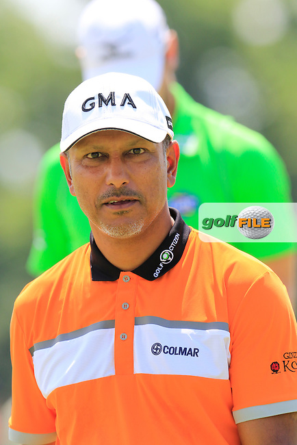 Jeev Milkha Singh (IND) on the 9th green during Wednesday's Practice Day of the 2016 U.S. Open Championship held at Oakmont Country Club, Oakmont, Pittsburgh, Pennsylvania, United States of America. 15th June 2016.<br /> Picture: Eoin Clarke | Golffile<br /> <br /> <br /> All photos usage must carry mandatory copyright credit (&copy; Golffile | Eoin Clarke)