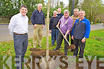 Killarney Mayor Sean Counihan pictured planting a tree on Mission Road, Killarney as part of Tree Week on Friday afternoon. Pictured with him are James Feely, Michael Shaughnessy, Michael O'Shea, David Doyle, John Moloney, John Lenihan and Noel O'Leary.....................