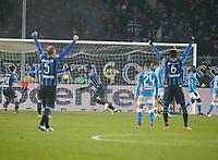\91\celebrates after scoring during the  italian serie a soccer match,Atalanta - SSC Napoli at  the Atleti azure d'italia   stadium in Bergamo Italy , December 03, 2018