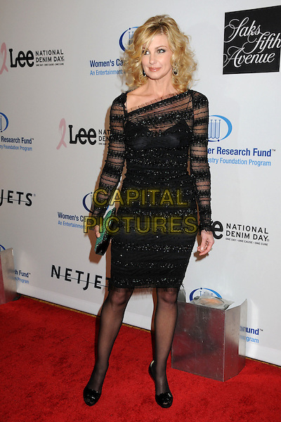 FAITH HILL.EIF's Women's Cancer Research Fund Benefit held at the Beverly Wilshire Hotel, Beverly Hills, California, USA..January 27th, 2010.full length dress black sheer green clutch bag.CAP/ADM/BP.©Byron Purvis/AdMedia/Capital Pictures.