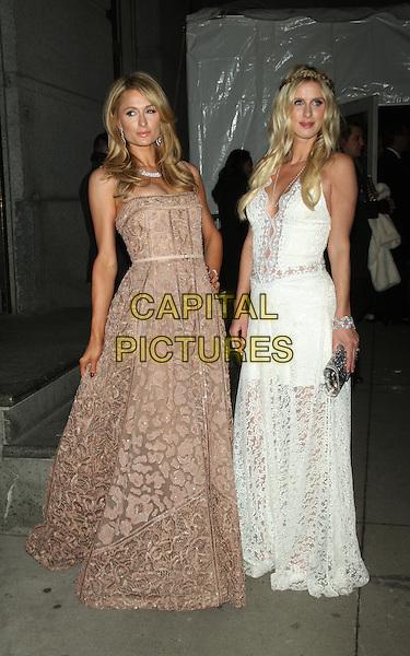 02 10, 2016: Paris Hilton, Nicky Hilton at 2016 amfAR New York Gala at Cipriani Wall Street  in New York. <br /> CAP/MPI/RW<br /> &copy;RW/MPI/Capital Pictures