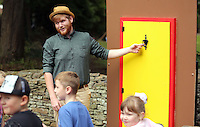 Pictured: Actor Rhys McLellan Saturday 13 August 2016<br />Re: Grow Wild event at  Furnace to Flowers site in Ebbw Vale, Wales, UK