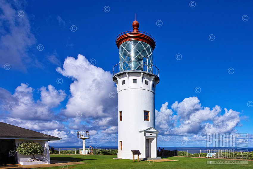 Listed on the National Register of Historic Places, Kaua'i's Kilauea Lighthouse marks the northernmost point of the Hawaiian Islands.