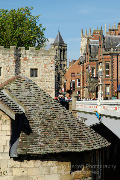 City of York near Lendal Bridge, England