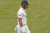 Ryan ten Doeschate of Essex departs the field having been caught out during Essex CCC vs Kent CCC, Bob Willis Trophy Cricket at The Cloudfm County Ground on 3rd August 2020