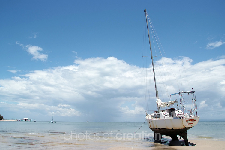 Waiting for the tide. Bribie Island Qld.
