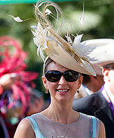 DEL MAR, CA - NOVEMBER 04: A woman wears a fancy hat on Day 2 of the 2017 Breeders' Cup World Championships at Del Mar Racing Club on November 4, 2017 in Del Mar, California. (Photo by Scott Serio/Eclipse Sportswire/Breeders Cup)