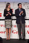 Princess Letizia of Spain and Madrid´s President Ignacio Gonzalez attend `El barco de vapor´ Awards ceremony at Real Casa de Correos in Madrid, Spain. April 01, 2014. (ALTERPHOTOS/Victor Blanco)