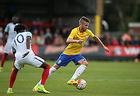 Caio Henrique of Brazil in action during the International match between England U20 and Brazil U20 at the Aggborough Stadium, Kidderminster, England on 4 September 2016. Photo by Andy Rowland / PRiME Media Images.