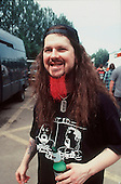 Pantera - Dimebag Darrell Abbott -  backstage at the Ozzfest, Milton Keynes, UK - 20 Jun 1998.  Photo credit: George Chin/IconicPix