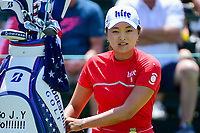Jin Young Ko (KOR) prepares to tee off on 1 during Sunday's final round of the 72nd U.S. Women's Open Championship, at Trump National Golf Club, Bedminster, New Jersey. 7/16/2017.<br /> Picture: Golffile | Ken Murray<br /> <br /> <br /> All photo usage must carry mandatory copyright credit (&copy; Golffile | Ken Murray)