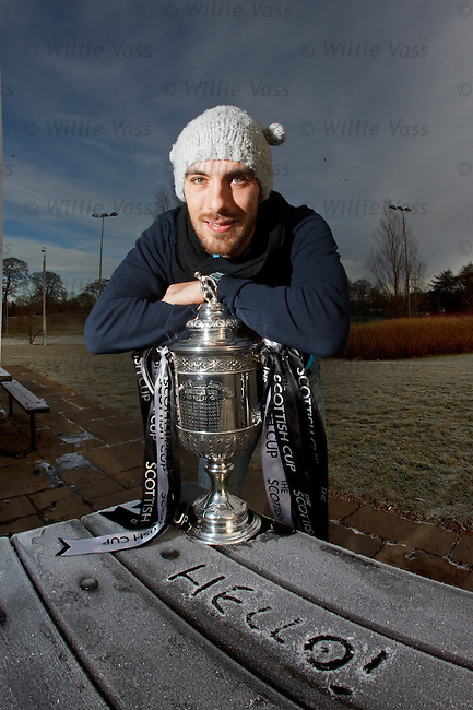 Manuel Pascali with the Scottish Cup