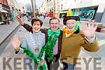 Mayor Norma Foley, Grandmarshal Dan Horan and Johnny Wall launch the Saint Patricks Day Tralee Parade.